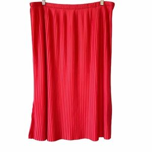 NY Collection Pleated Skirt NWT Pink Sz 1X